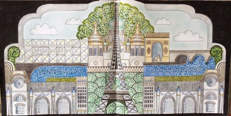 Dream Cities. Paris. Coloured by Prue.