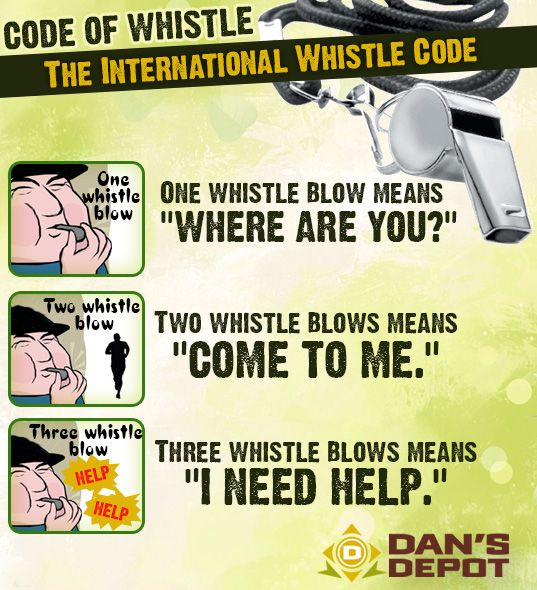 You can use any sort of signalling device but a whistle is a an excellent choice when available.    These whistle codes are pretty standard in all sorts of disciplines.  Military, Law Enforcement, SAR and many other governmental agencies use this methodology.  Keep in mind that THREE of anything is typically understood as distress and should illicit a response from available resources. #CodeOfWhistle #OutdoorSurvival #Whistle #WildernessSurvival