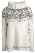jsfn Offwhite Rullekravesweater