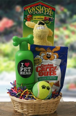 Crazy for Canines Pet gift basket idea get the dog groomer to donate a service to go with this