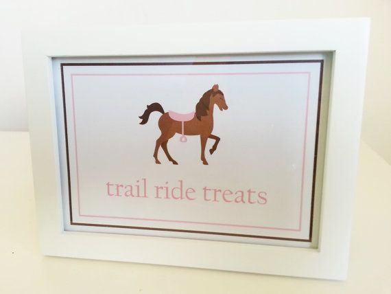 Girl Horse Party Food Table Treat Sign By LittleMavens 500