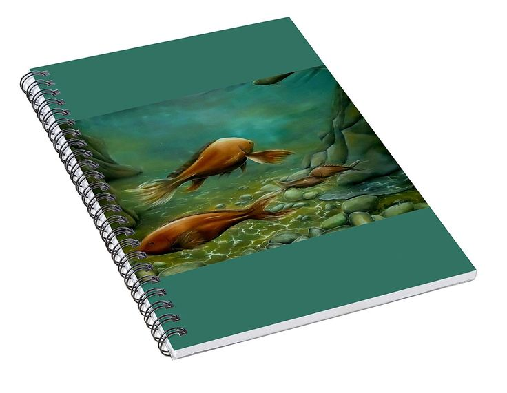 Spiral Notebook,  stationery,school,supplies,cool,unique,fancy,trendy,awesome,beautiful,design,unusual,modern,artistic,for,sale,items,products,office,organisation,fish,ocean,green