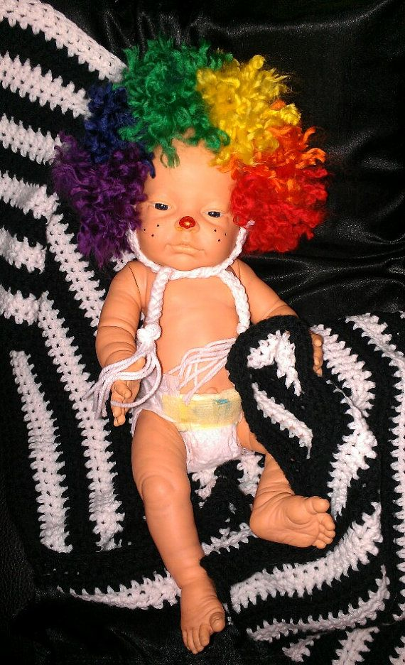 Crocheted Clown Hat by CreatedWithaHook on Etsy, $30.00