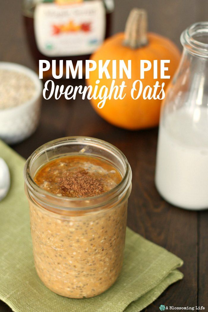 Pumpkin pie overnight oats are a delicious, healthy, and quick breakfast perfect for crisp fall weather.