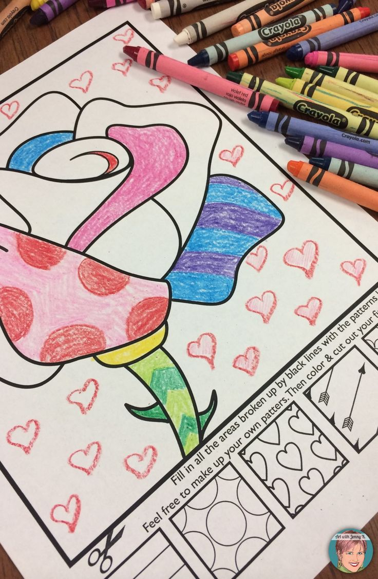 Interactive coloring sheets for Valentine's Day with writing prompts also included!