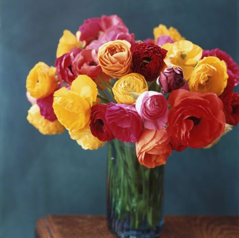"""""""A coveted blossom for the bride, a ranunculus is simply charming,"""" Noelle says. The impactful flowers can last up to three weeks once cut."""