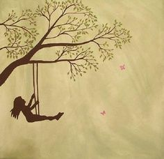 whimsical drawing of little girl silhouette - Google Search