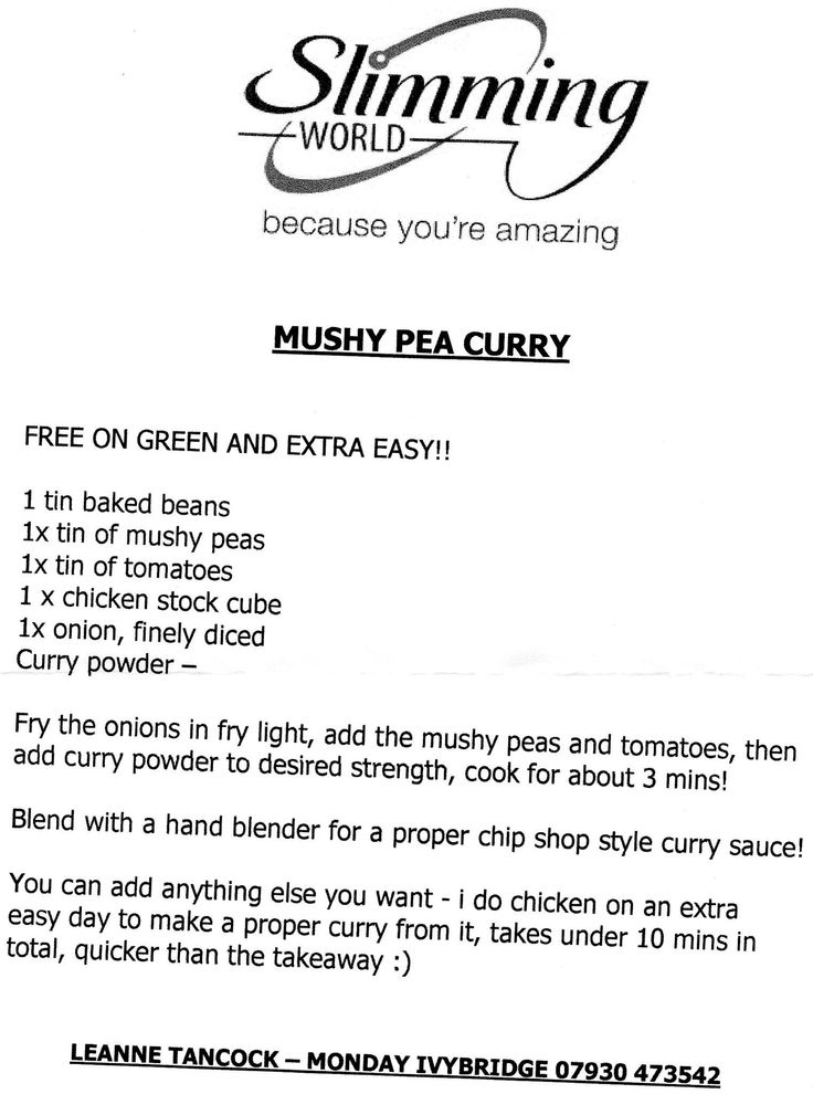 Love this, make a batch most weeks and even have hubby eating it. If like me you avoided it because the idea of a mushy pea curry sounds wrong, just give it a go.
