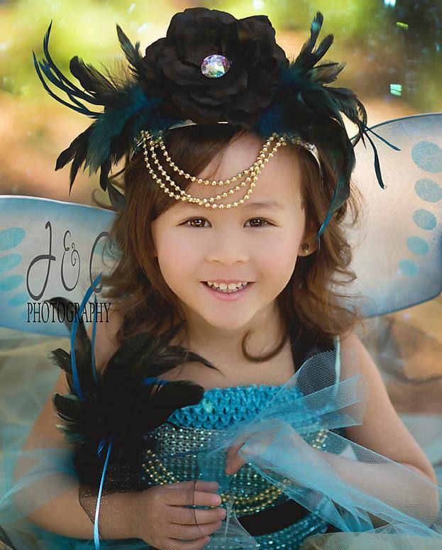 Fairy Princess Costume - Girls Fairy Dress - Woodland Fairy - Fairy Outfit - Fairy wings - Fairy Tutu Dress - Fairy Crown - Blue Fairy by AllDressedUpCouture on Etsy