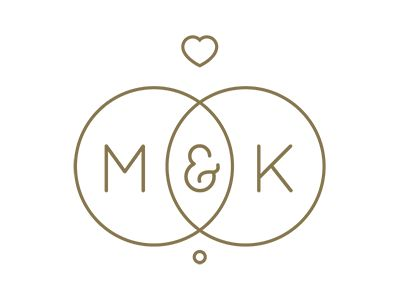 M&K Wedding Logo by Rhodi Iliadou - Dribbble                                                                                                                                                                                 More