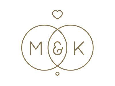 M&K Wedding Logo by Rhodi Iliadou - Dribbble                                                                                                                                                                                 More