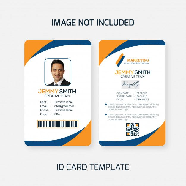 Freepik Graphic Resources For Everyone Id Card Template Card Template Life Plan Template