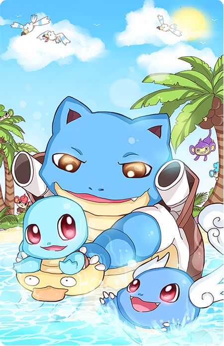 how to draw squirtle wartortle and blastoise