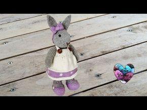 Doudou lapin amigurumi -tutoriel gratuit au tricot présenté par Lidia Crochet Tricot
