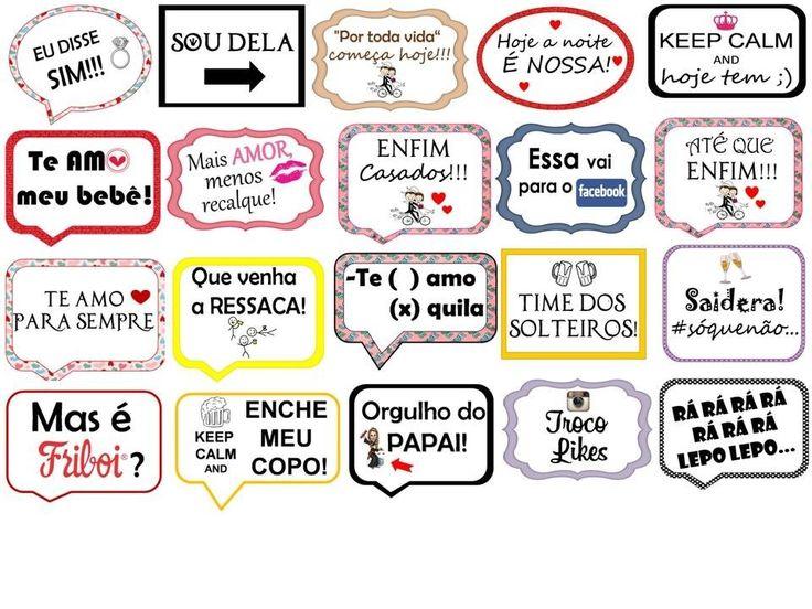 Kit 10 Plaquinhas Divertidas Festas Casamentos Aniversários - R$ 35,00 no MercadoLivre