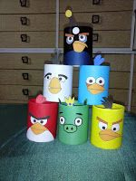 PATCHWORK:    Porta lapices Angry birds
