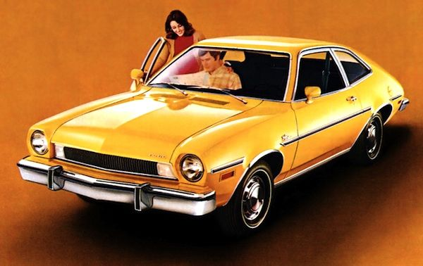 4. My Mom's car was a yellow-gold Ford Pinto with black & white hounds-tooth interior.  She loved that car. #SomebodysMothers