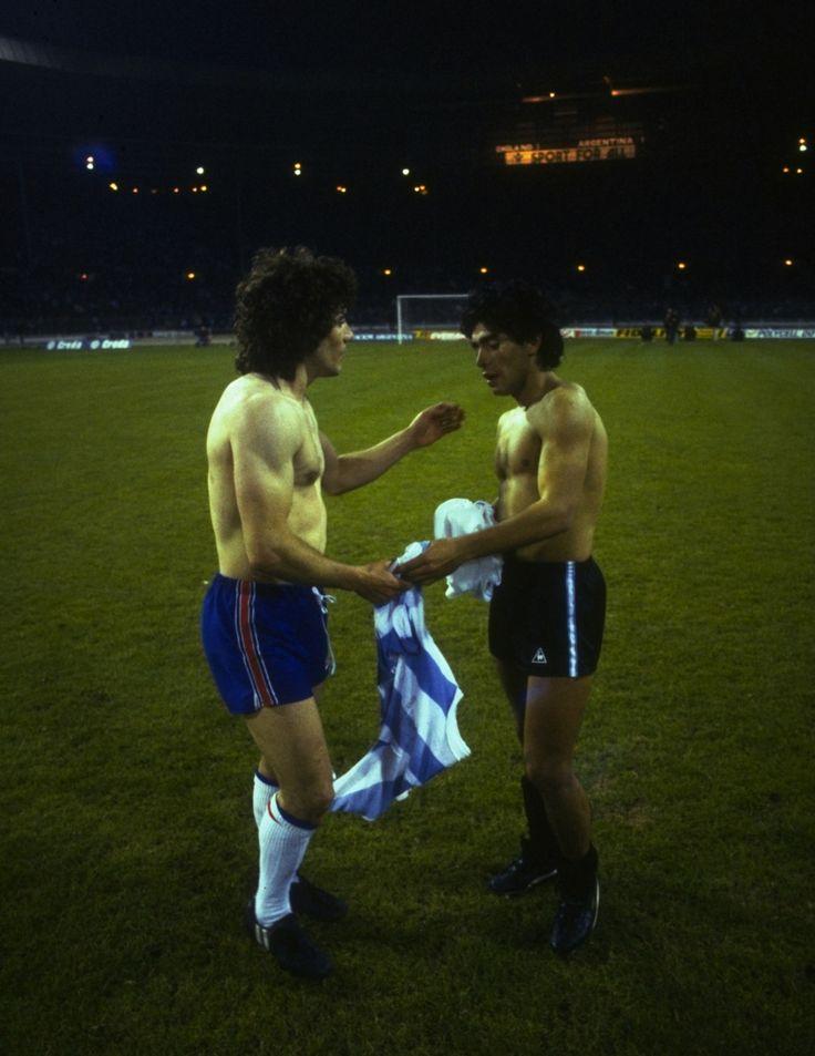 Kevin Keegan et Diego Maradona