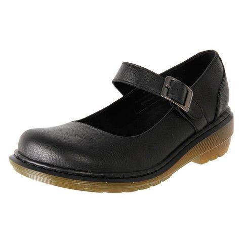 Dr. Martens Women's Leather Comfort Mary Jane Work Shoe Lynne Black | The Shoe Link