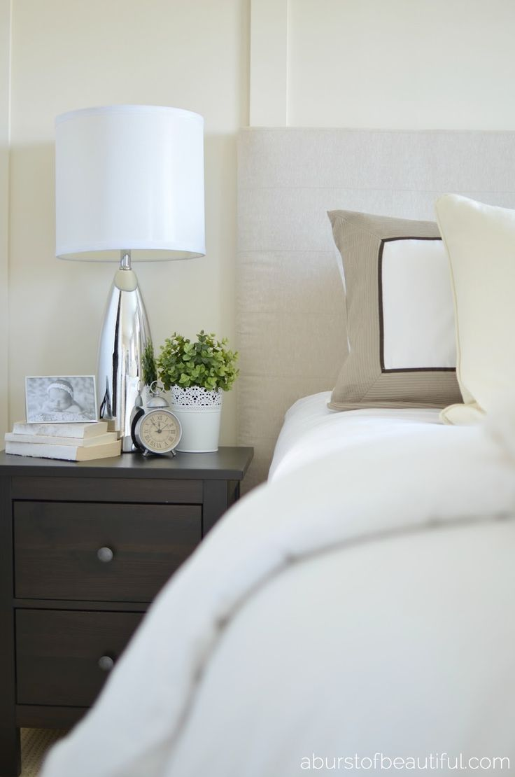 Mirror nightstands contemporary bedroom kimberley seldon design - A Burst Of Beautiful Our Home