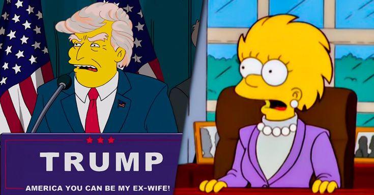 Los Simpsons acertaron, hace 16 años, al comienzo del milenio, predijeron que Donald Trump sería electo presidente y que dejaría un país en quiebra