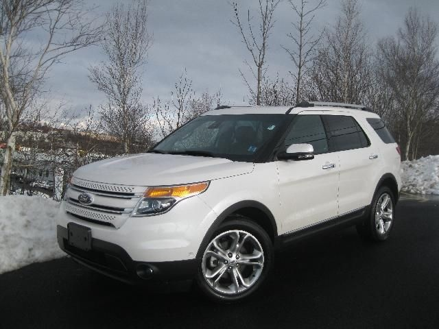 white explorer ford 2013 limited with black rims | 2013 Ford Explorer Limited White Platinum Tri-Coat | STEELE FORD ...