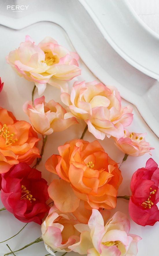 331 best fabric flowers images on pinterest ribbons fabric fabric flowers silk flower making handmade from simple white silk fabric watercolour effect mightylinksfo
