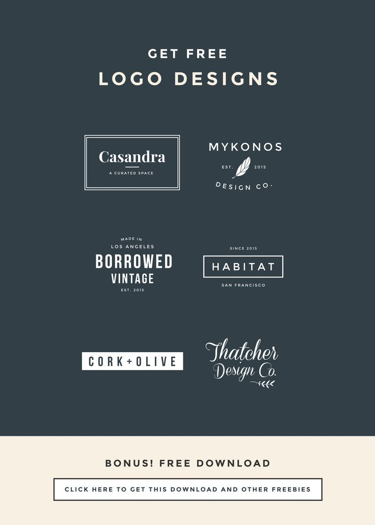 5 Steps for Naming Your Blog with FREE Logo Designs. Click through for download.