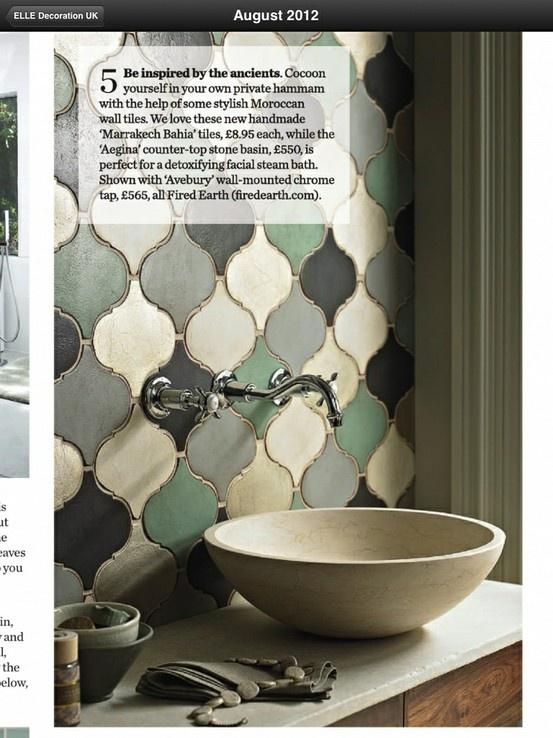 Moroccan Tiles On Splashback. Forget The Sink.