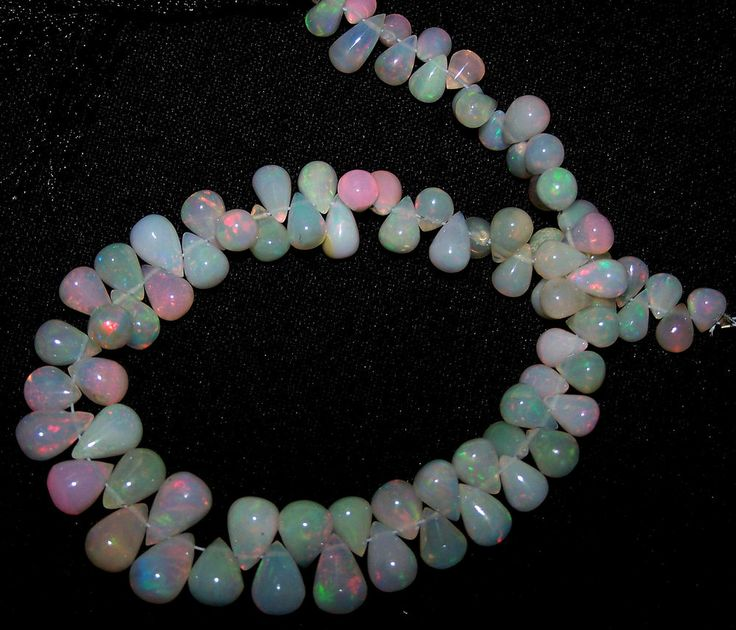 Flashy 55 cts Natural Multi Fire Ethiopian Welo Opal Tear Drops Wholesale (85)