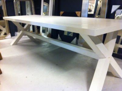 Houten Tuintafel Met Witte Stoelen.Design Tafel Wit Design Tafel Exteso Design Meubels Design Tafel