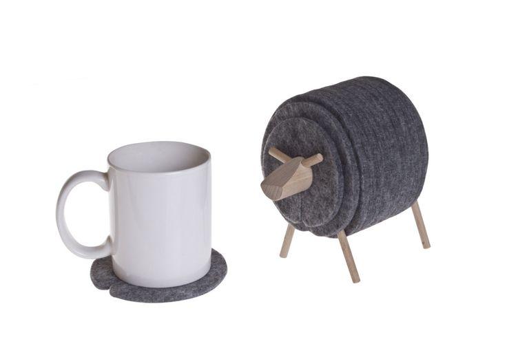 Sheepad Felt Coasters Set by WellDone Dobre Rzeczy made in Poland on CROWDYHOUSE