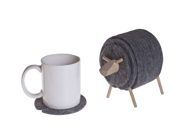 Sheepad Felt Coasters Set by WellDone Dobre Rzeczy made in Poland on CROWDYHOUSE