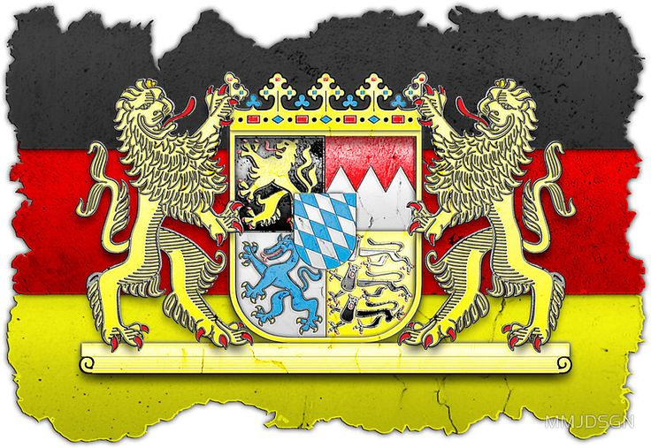 Bayern Wappen / Fahne in Stein gemeißelt by MMJDSGN