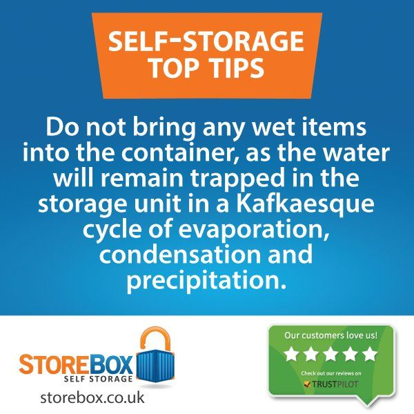Keep the moisture out. storebox.co.uk