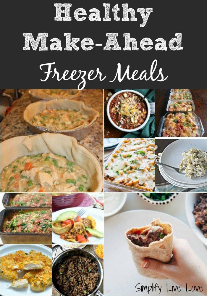Get your healthy eating back on track with this collection of 5 make ahead healthy freezer meals! Make one for dinner and another to freeze. A quick and easy way to fill your freezer.
