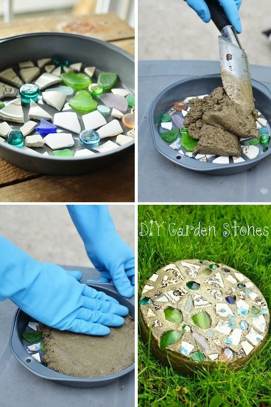 Lustige Idee - Kleines Geschenk für die Hausparty oder Gartenparty ganz einfach selber machen *** Garden Stone, Step Stone as a little Gift - 35 Easy DIY Gift Ideas Everyone Will Love