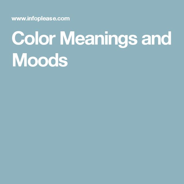 Best 25+ Mood Color Meanings Ideas On Pinterest