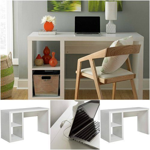 Computer-Desk-For-Small-Spaces-White-Home-Office-Table-Study-Wood-Pc-Workstation