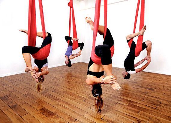 Aerial Sling / Yoga Hammock kinda wish they would fall...