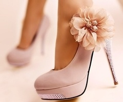 PINK Heels - Will never get to wear because of the high