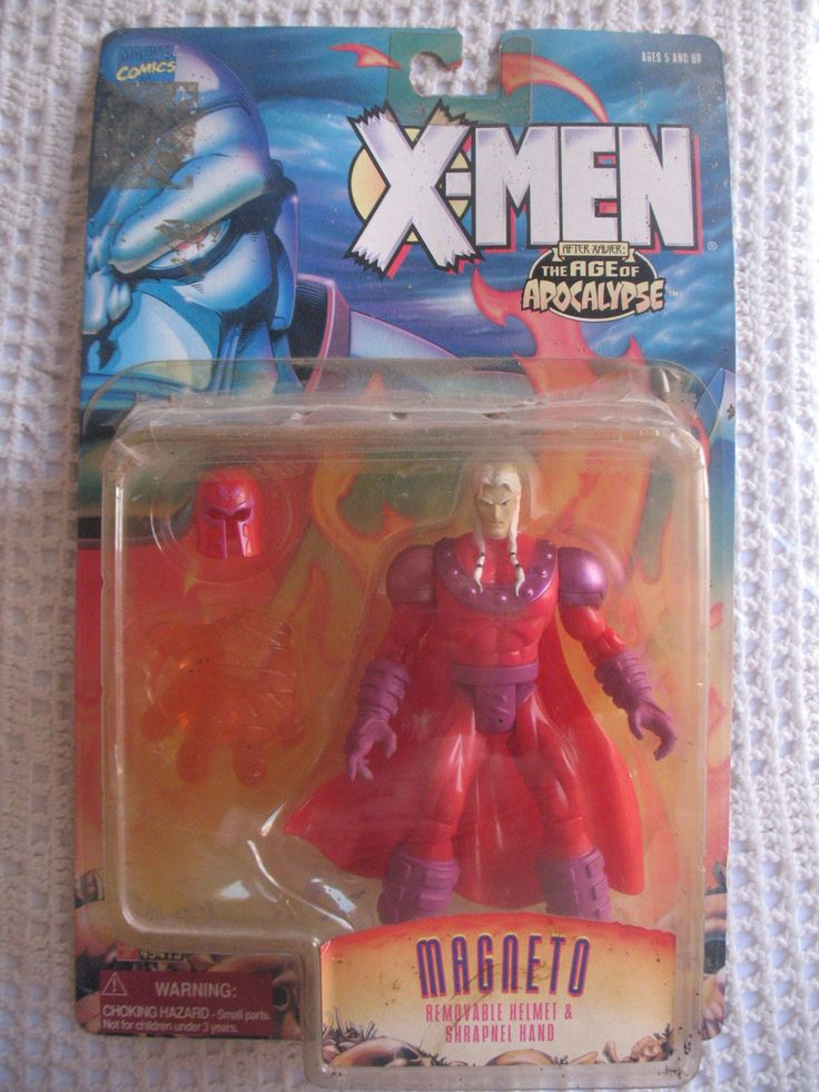 Marvel Comics Year 1995 X-Men After Xavier The Age of Apocalypse 5 Inch Tall Action Figure - MAGNETO with Removable Helmet and Shrapnel Hand