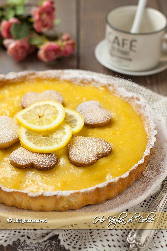 Crostata con lemon curd Lemon tart
