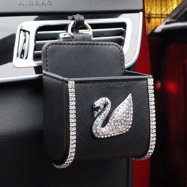 Cell Phone Holder for Carwith Bling Swan