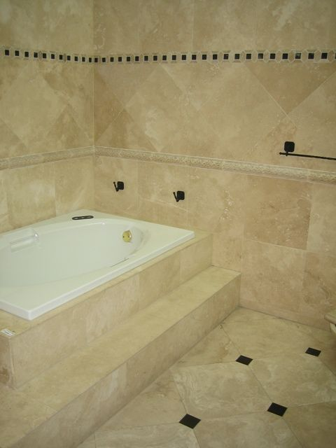Shower Tile Designs Travertine   Bathroom Tile Designs, Ideas Pictures: How  To Install Bath