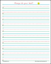 Writing Paper: 1-2 40 Sheet Tablet  by Frog Street Press