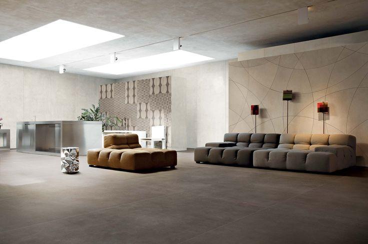Ceramic large format floor tiles: Industrial by Floor Gres #living #style #room #decorative #ceramics #modern #innovative #large #format