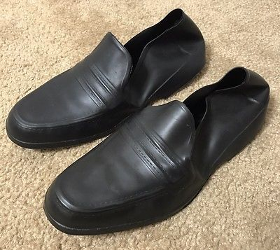 Totes-Black-Rubber-Dress-Shoe-Loafer-Covers-Waterproof-Mens-Medium-USA
