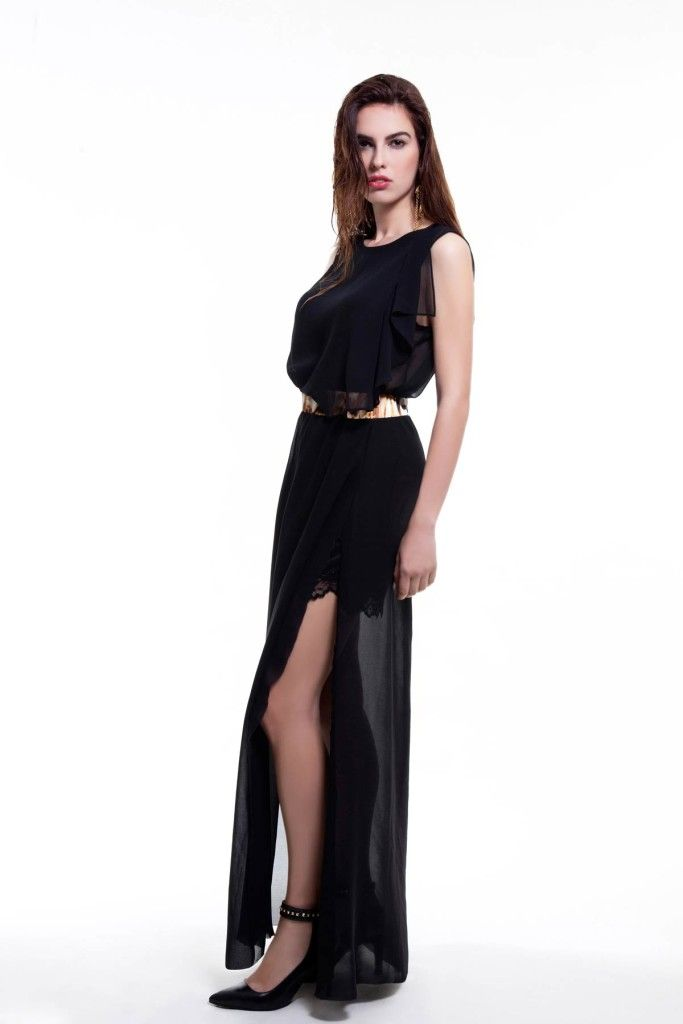 SARTORIAL | Chryssomally || Art & Fashion Designer - Sheer maxi skirt and top with lace and animal print details