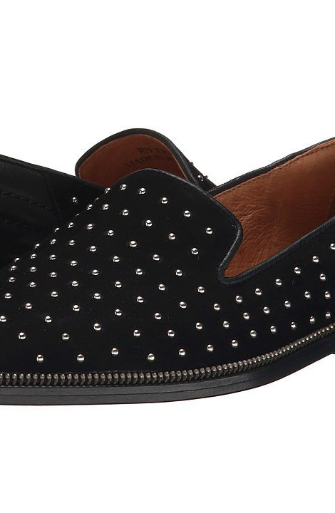 The Kooples Suede Slippers Decorated with Studs (Black) Women's Slip on Shoes - The Kooples, Suede Slippers Decorated with Studs, AFCH815 USA, Footwear Closed Slip on Casual, Slip on Casual, Closed Footwear, Footwear, Shoes, Gift - Outfit Ideas And Street Style 2017